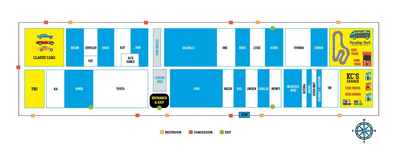 Kc Auto Show 2020.Floorplan Kansas City Auto Show
